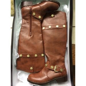 brown riding boots size 6