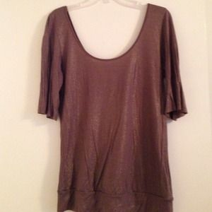 Gold shimmery Express top