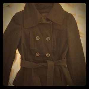 Zara Jackets & Blazers - Zara Basic peacoat in black w. asymmetrical collar