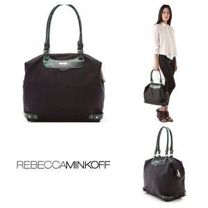 Rebecca Minkoff Handbags - NWT Rebecca Minkoff Travel Tote with Python Detail
