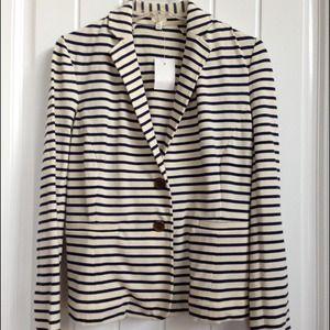 JCrew Factory striped cotton blazer NEW