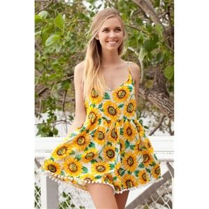LF Other - Price not firm✨PP $55✨ Sunflower romper/play suit