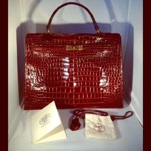 used hermes bag - Hermes - AUTHENTIC Vintage Hermes Croc Kelly Handbag from D\u0026#39;arcy\u0026#39;s ...