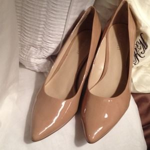 Nine West Shoes - Patent leather Nine West nude heels