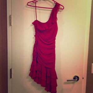 Red Silk Dress