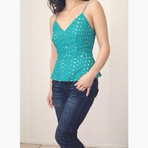 Tops - Jade Eyelet Peplum Top