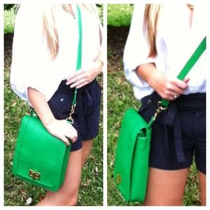 Handbags - Kelly Green Crossbody Purse