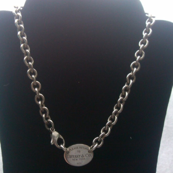 0a0f82a8a Authentic Tiffany & Co Oval Tag Necklace Chain. M_530430b325cab709de1e4a55