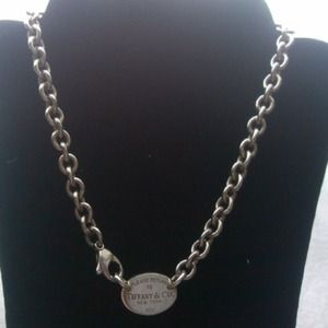 Authentic Tiffany & Co Oval Tag Necklace Chain
