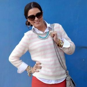 H&M Sweaters - Pink & White Striped Sweater