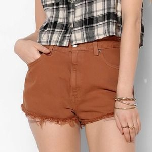 Rust high waisted shorts