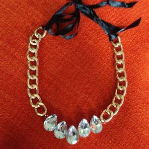 Jewelry - Rhinestone Tie Necklace