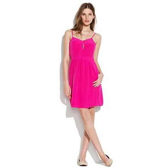 d949e946b63b Hot Pink Madewell Spaghetti Strap Summer Dress 💅