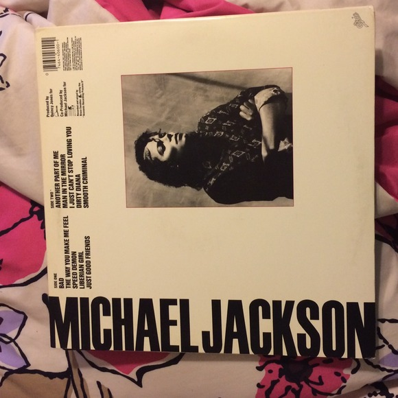 80 off other michael jackson 39 s bad vinyl album from meliza 39 s closet on poshmark. Black Bedroom Furniture Sets. Home Design Ideas