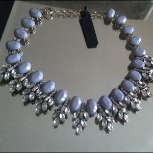 J Crew Lavender statement  necklace