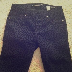 Zara leopard stretchy pants