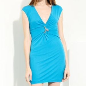 Roberto Cavalli Deep V-Neck Jersey Dress  2 US/38