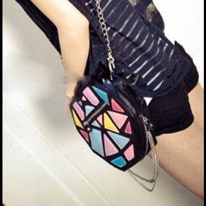 Handbags - New unique heart color block shoulder bag