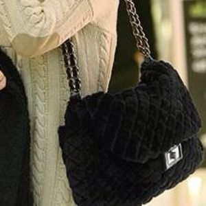 Handbags - New Korean Style Rhombus Black Messenger Bag