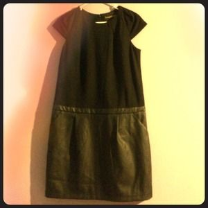 Black pleather dress