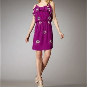 Rebecca Taylor Dresses & Skirts - NWT Rebecca Taylor purple floral silk dress size 2