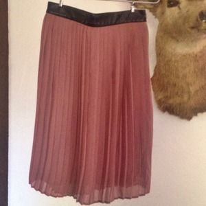 Mossimo Mauve Chiffon Skirt Vegan Leather Waist