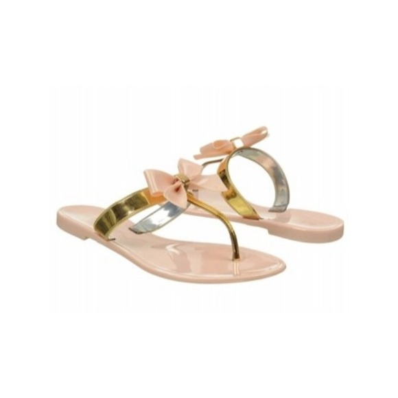 report jelly bow sandals
