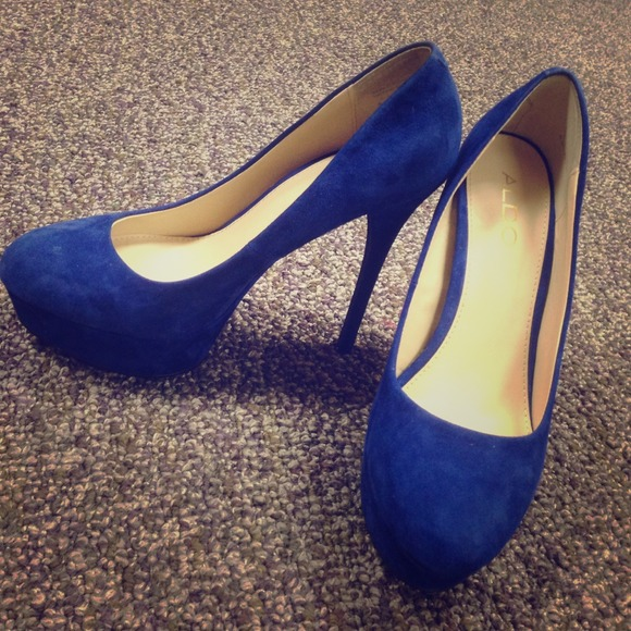 Royal Blue Suede Heels