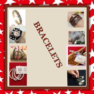 Jewelry - Variety of bracelets. Real and fashion