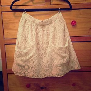 Urban Outfitters Lace Skater Skirt