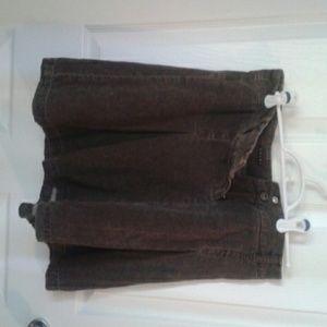 Brown a-line skirt