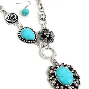 Jewelry - BEAUTIFUL TURQUOISE NECKLACE SET WITH STONES