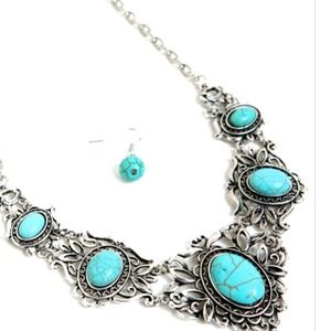 Jewelry - BEAUTIFUL TURQUOISE NECKLACE SET