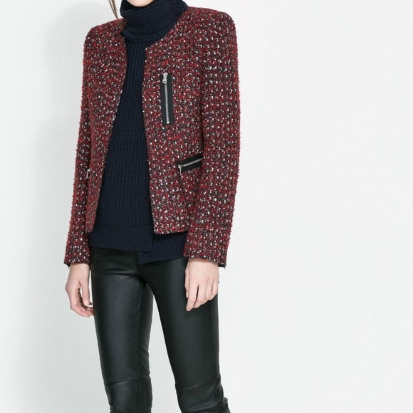Zara Jackets & Blazers - Zara tweed jacket 2