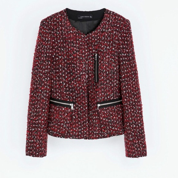 Zara Jackets & Coats - Zara tweed jacket
