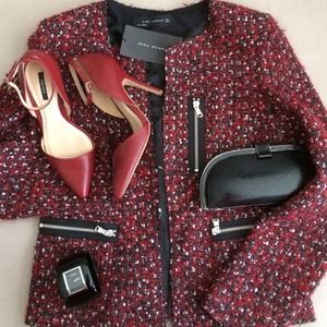 Zara Jackets & Coats - Zara tweed jacket 1