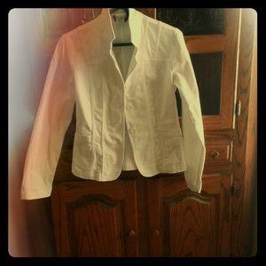 White DKNY jean jacket.