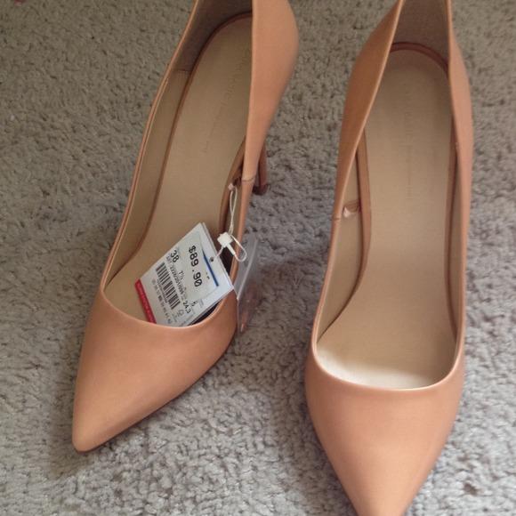 Zara Shoes | Zara Brand New Nude Heels