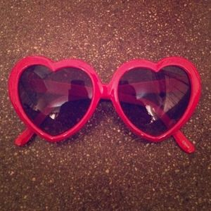Accessories - 🎀. 🎉❤️ HOST PICK ❤️🎉Red Heart Sunglasses 2