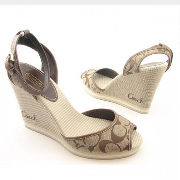 Coach Espadrille Wedge Sandals best wholesale online cost cheap online auSBio
