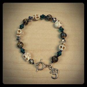 Jewelry - New! Natural Gemstones w/ charm bracelet