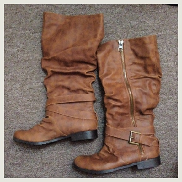 olsenboye new cognac boots from mae s closet on