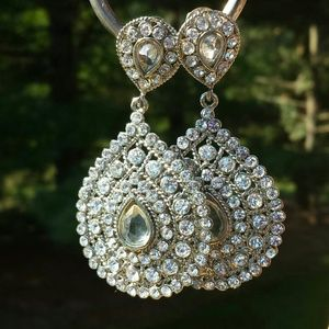 Jewelry - Gorgeous Teardrop Chandelier Earrings Bollywood 1
