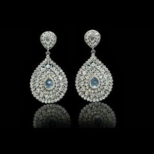 Jewelry - Gorgeous Teardrop Chandelier Earrings Bollywood 4