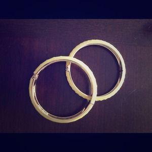 JewelMint yellow/pink bangle bracelets NEW!