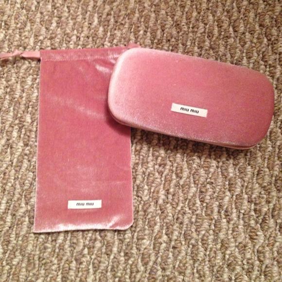 Miu Miu Accessories   Brand New Sunglass Case With Pouch   Poshmark 9ab8042768