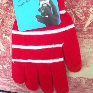 Accessories - Cute red and white texting gloves