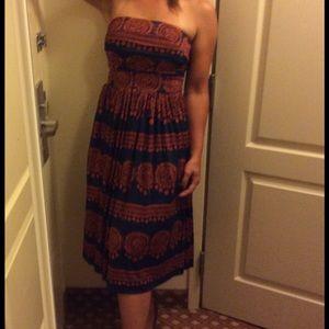 {anthropologie} strapless midi dress