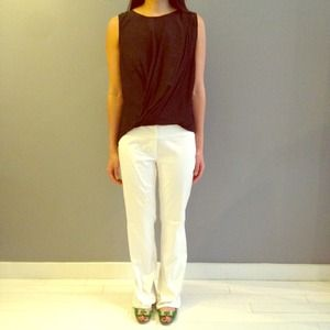 White Zara pants