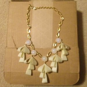 SOLD Jcrew bow necklace